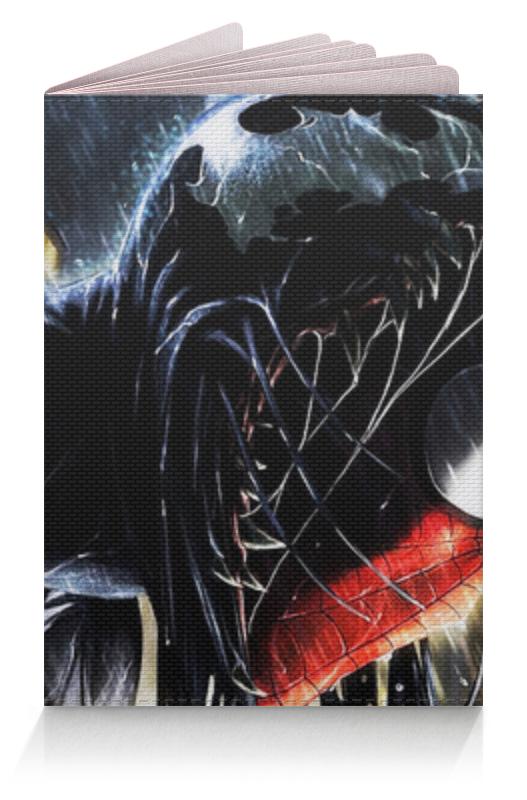 Обложка для паспорта Printio Веном и человек паук