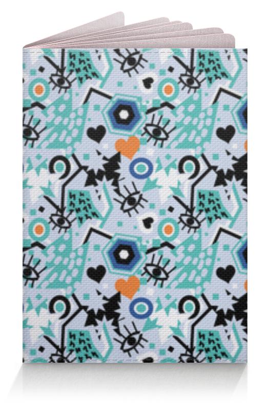 Обложка для паспорта Printio Поп арт дизайн. глаза сердце звезды паттерн (1) юбка карандаш укороченная printio поп арт дизайн глаза сердце звезды паттерн 1