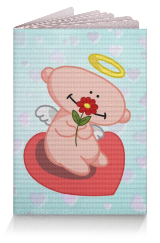 Обложка для паспорта Printio Влюбленный ангелок с сердцем