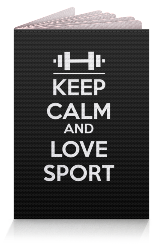 Обложка для паспорта Printio Keep calm and love sport сумка printio keep calm and love sport
