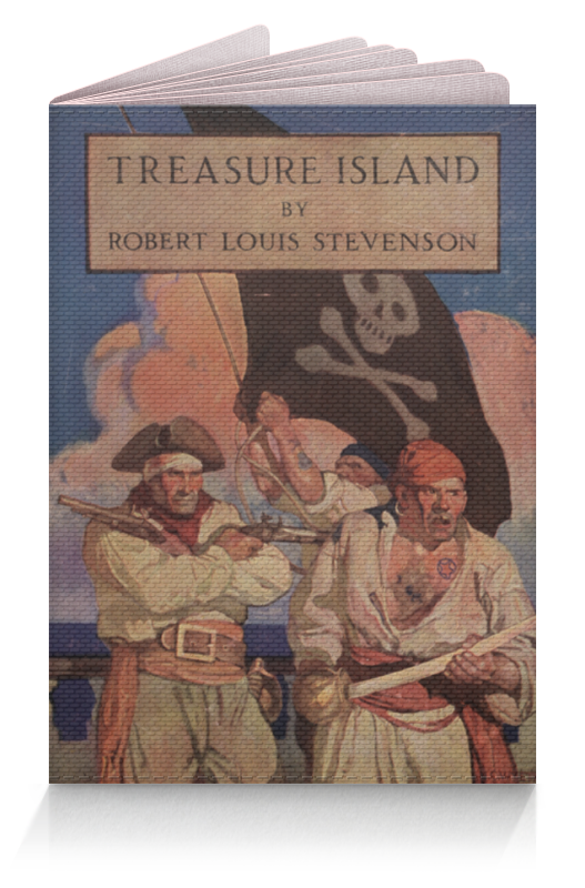 Обложка для паспорта Printio Остров сокровищ (обложка издания 1911 г.) остров сокровищ ножницы остров сокровищ со сменными лезвиями 165 мм