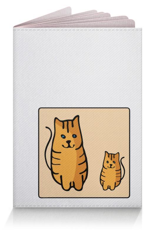 Обложка для паспорта Printio Два котика, смотрящие друг на друга неизвестный друг