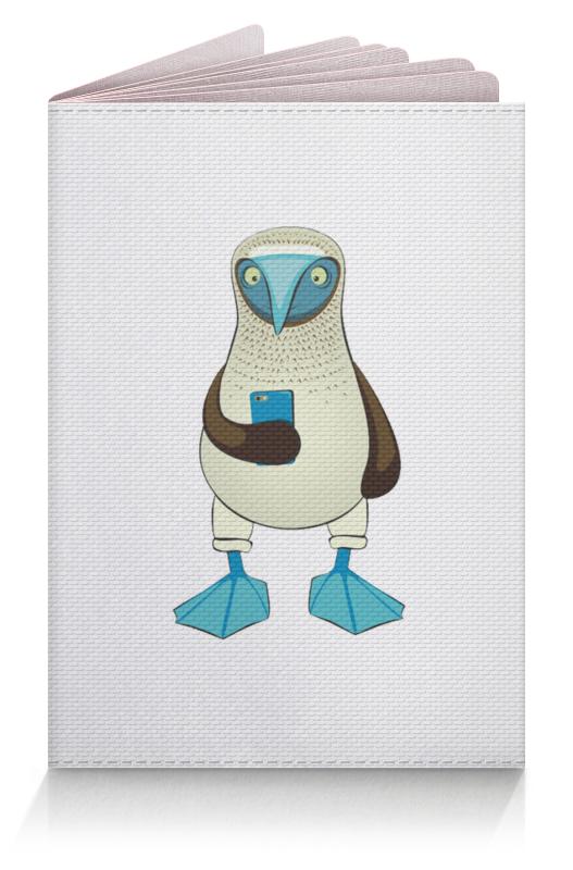 Обложка для паспорта Printio Blue-footed booby liberty booby