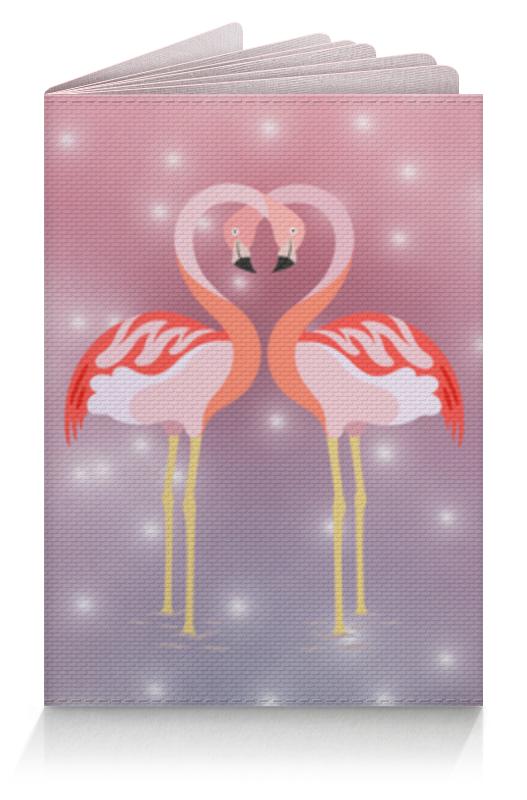 Обложка для паспорта Printio Влюбленные фламинго плакат a3 29 7x42 printio влюбленные фламинго