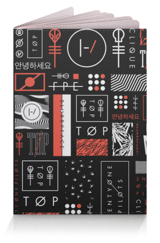 обложка на паспорт leighton цвет черный 22106 1 10 Обложка для паспорта Printio Обложка на паспорт twenty one pilots