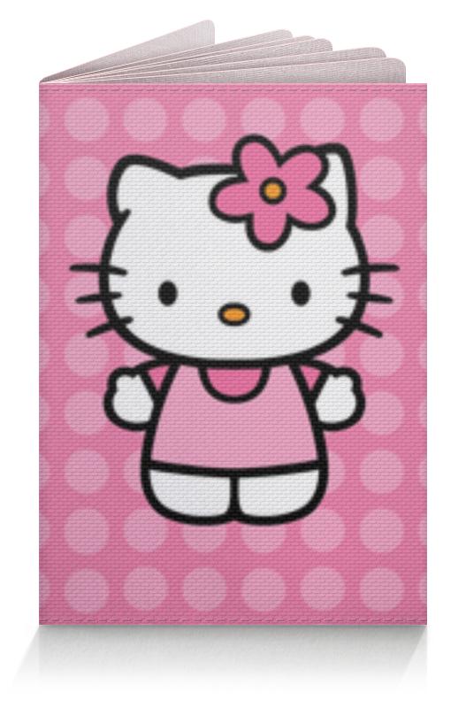 Обложка для паспорта Printio Kitty в горошек коврик для мышки printio kitty в горошек