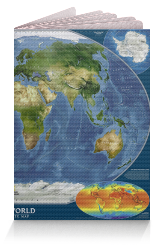Обложка для паспорта Printio Карта мира goldfish карта goldfish съемная бумага для кухни насосной полотенца пакет 75 насосных 3