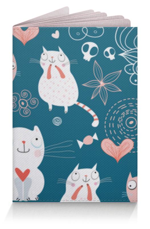 Обложка для паспорта Printio Прикольные коты