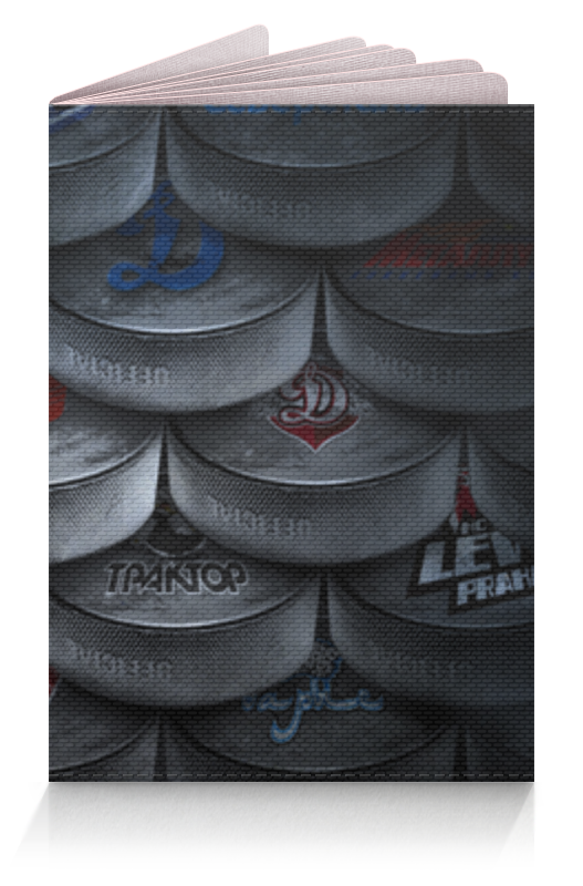 Обложка для паспорта Printio Хоккейные шайбы