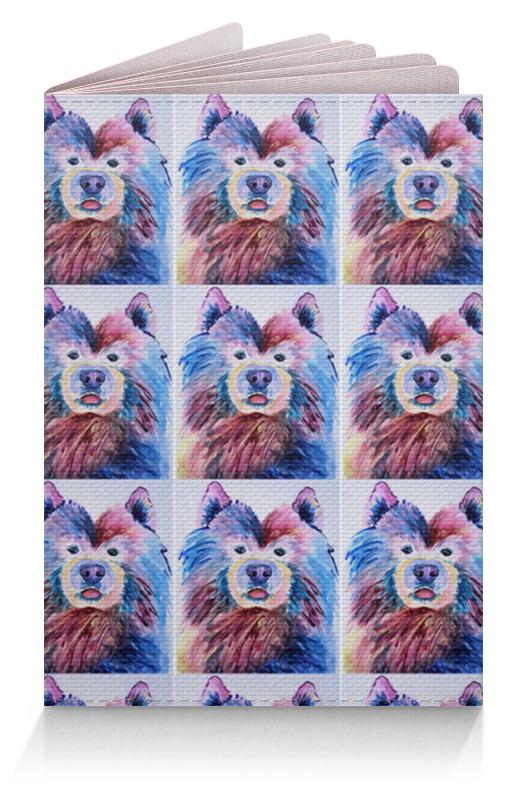 Обложка для паспорта Printio Милые собачки компьютерный синие собачки
