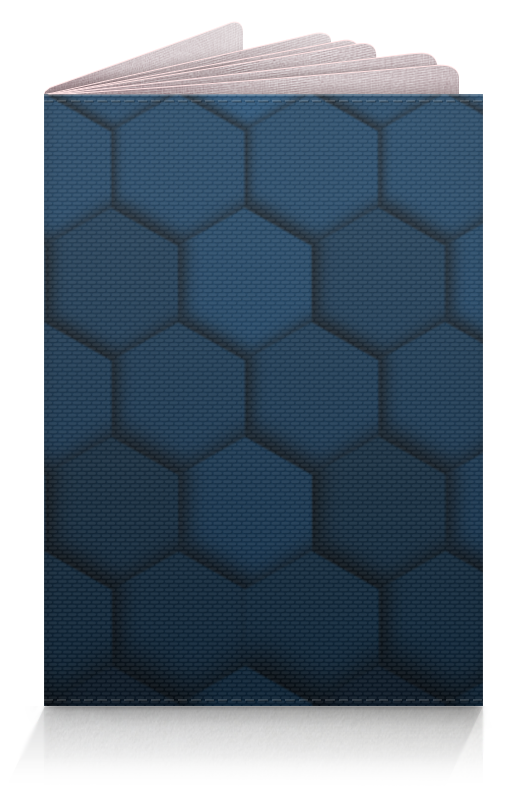 Обложка для паспорта Printio Синяя абстракция обложка для паспорта printio синяя птица