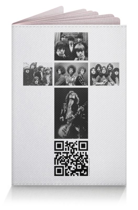 Обложка для паспорта Printio Рокерский документ deli 5039 a4 боковой буклет документ книга документ сумка 60 страница черный