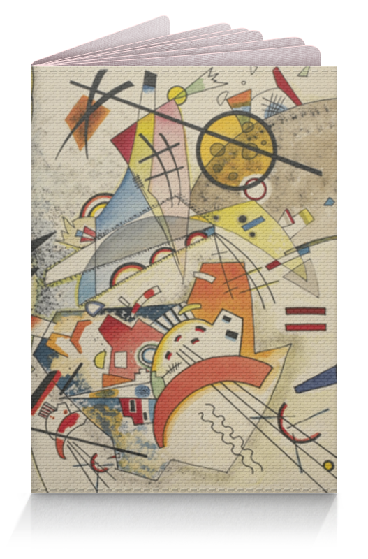 Обложка для паспорта Printio Bustling aquarelle (василий кандинский) кандинский блокнот