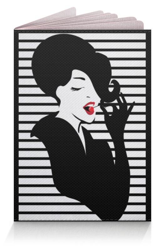 Обложка для паспорта Printio Фэшн иллюстрация. красивая девушка в пинап стиле чехол для ноутбука 14 printio девушка