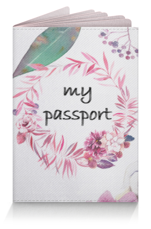 Обложка для паспорта Printio Цветочная обложка на паспорт обложка для паспорта printio cbi паспорт