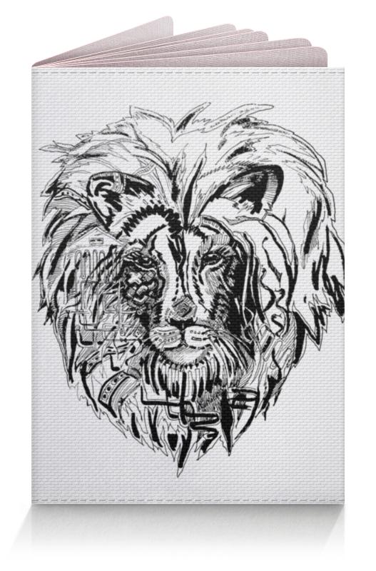 Обложка для паспорта Printio Иллюстрация лев обложка для паспорта printio король лев