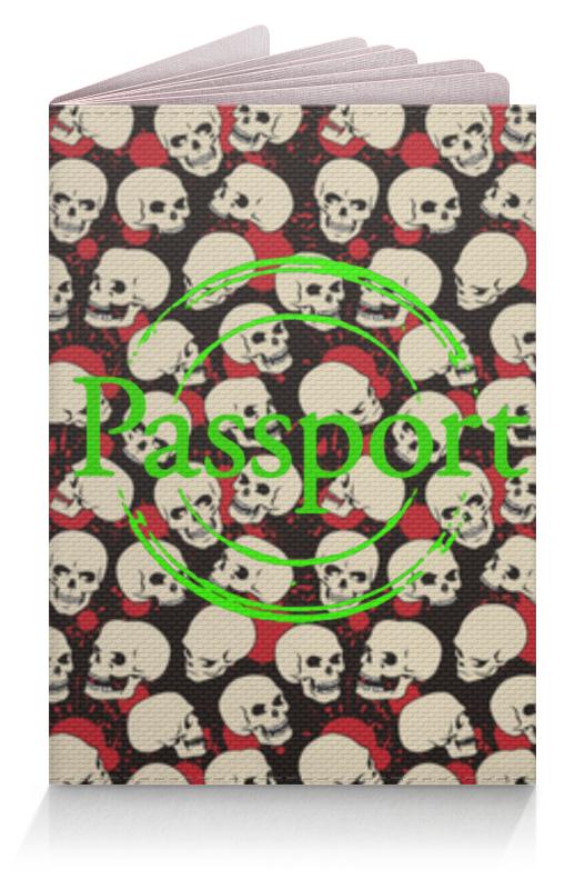 Обложка для паспорта Printio Крупные черепа обложка для паспорта printio богатырское здоровье