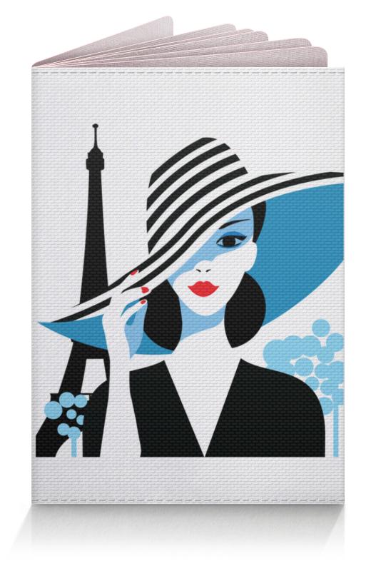 Обложка для паспорта Printio Красивая француженка на фоне эйфелевой башни макет эйфелевой башни спб