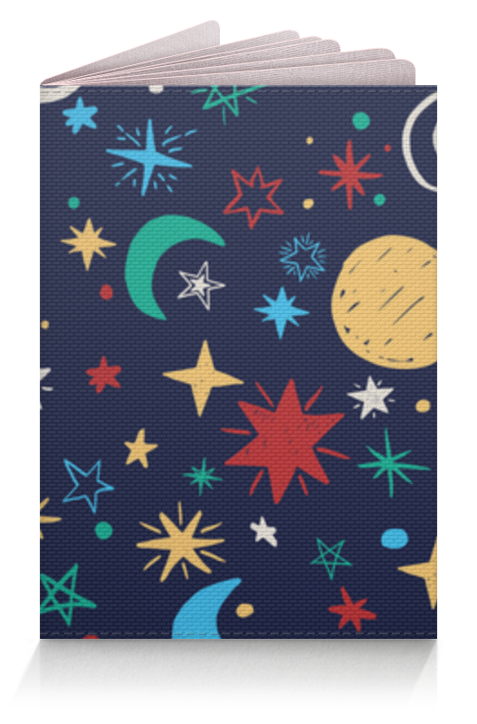 Обложка для паспорта Printio Звёздное небо бомон эмили гийоре мари рене звёздное небо