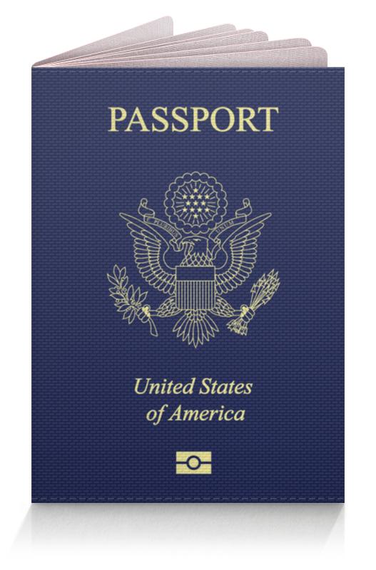Printio Usa passport обложка для паспорта printio яркая цветочная обложка на паспорт