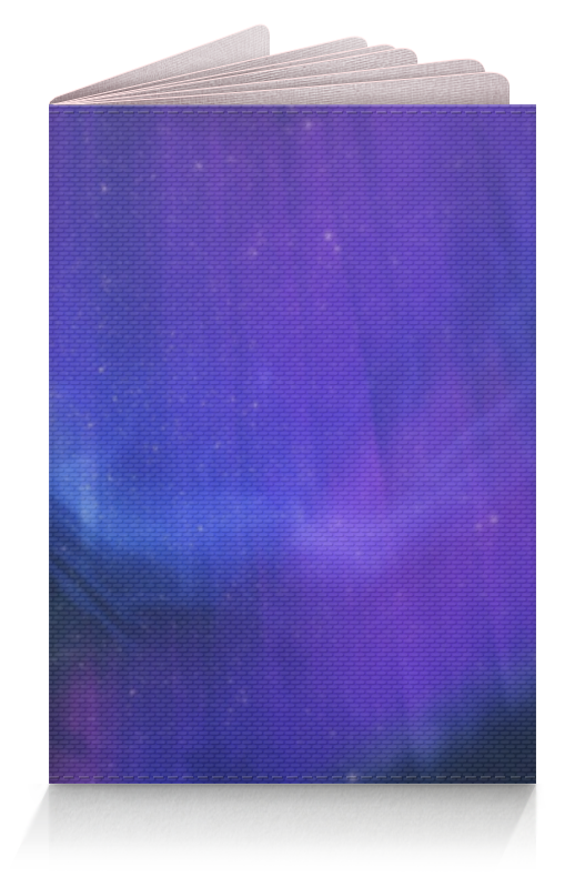 Обложка для паспорта Printio Звёздное небо скайрима