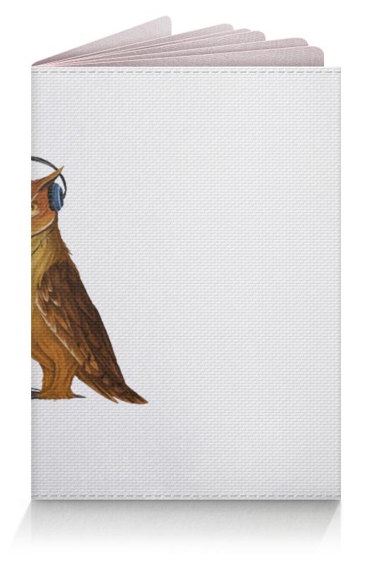 Обложка для паспорта Printio Сова в наушниках конверт средний с5 printio сова в наушниках