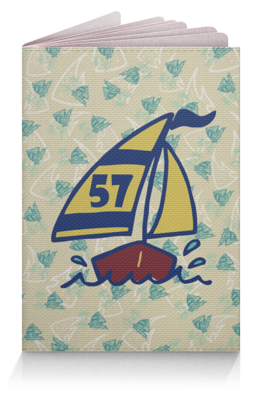 Обложка для паспорта Printio Кораблик для пальм