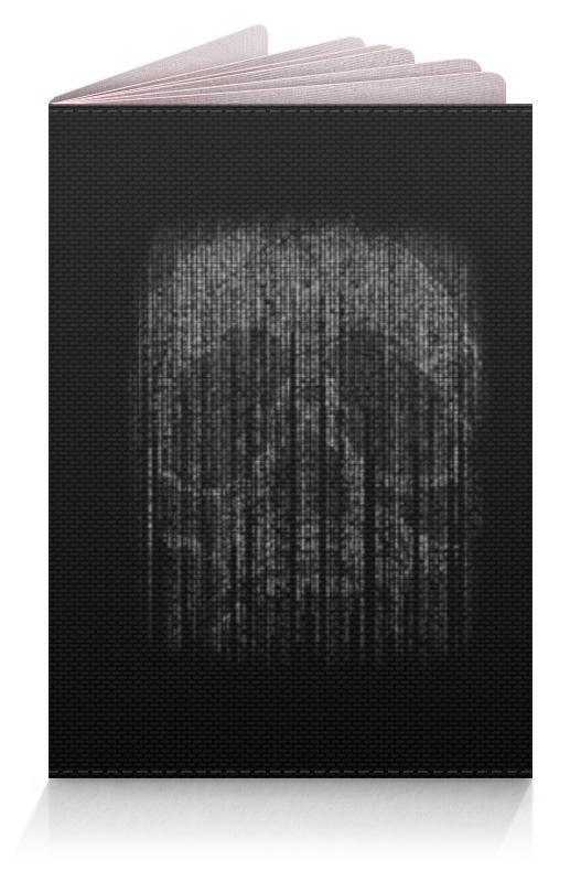 Обложка для паспорта Printio Голограмма череп