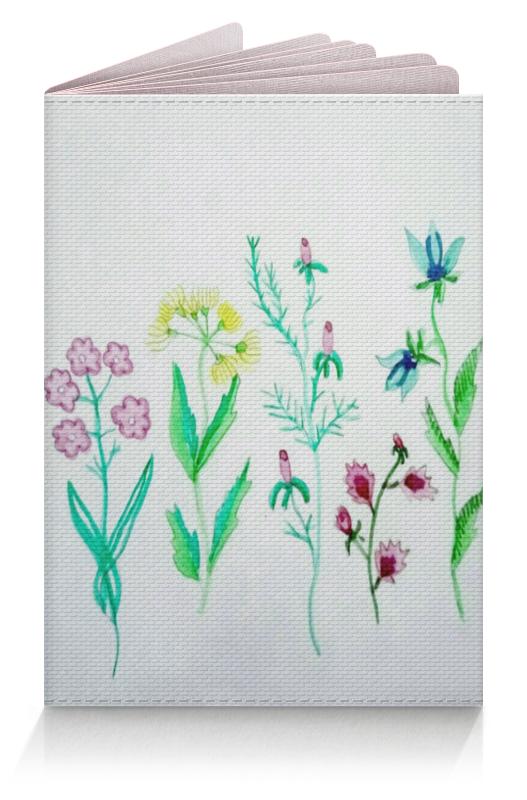 Обложка для паспорта Printio Обложка луговые цветы ваза луговые маки