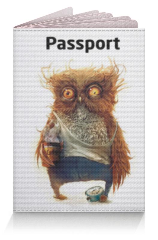 Обложка для паспорта Printio Пьяная сова пьяная рулетка – подарок для шумной вечеринки