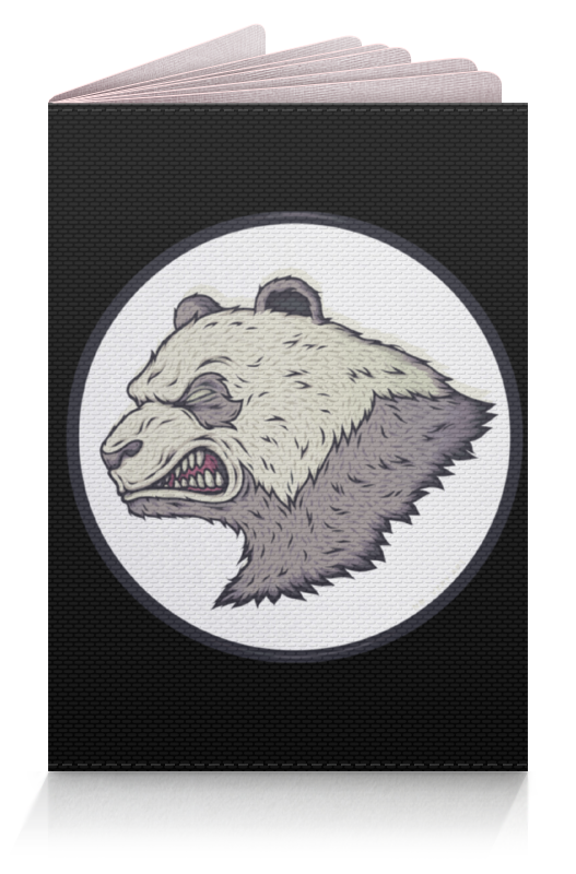Обложка для паспорта Printio Angry panda / злая панда подушки для малыша candide подушка анатомическая панда brownish grey panda pillow 21x19 см