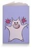 """Обложка для паспорта """"Розовый поросёнок с бенгальскими огнями"""" - арт, счастье, свин, розовый поросенок, бенгальский огонь"""