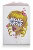 """Обложка для паспорта """"Без ума от цветов"""" - любовь, девушка, цветы, сердца, блондинка"""
