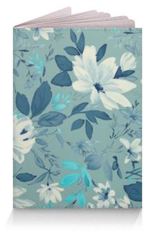 """Обложка для паспорта """"Цветы. Акварель"""" - рисунок, цветы, акварель, голубой, роза"""