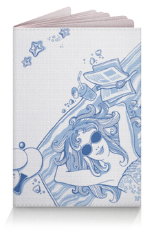 "Обложка для паспорта ""В отпуск! Море! Солнце! Лето!"" - девушка, лето, море, иллюстрация, отпуск"