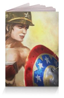 """Обложка для паспорта """"Капитан Америка"""" - девушка, captain america"""