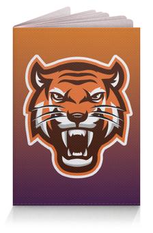"""Обложка для паспорта """"Тайгер"""" - кот, животные, тигр, градиент"""