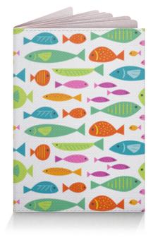 """Обложка для паспорта """"Морские рыбки"""" - море, рыбки, рыба, морские рыбки"""
