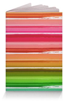 """Обложка для паспорта """"Палитра"""" - узор, рисунок, разноцветный, полосатый, палитра"""