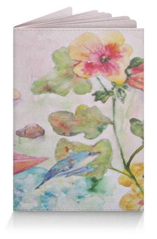 """Обложка для паспорта """"Плюшевая история"""" - цветок, коллаж, игрушки, оригинальный, акварель"""