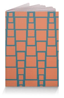"""Обложка для паспорта """"Квадраты"""" - треугольник, рыжий, синий, квадрат, размер"""