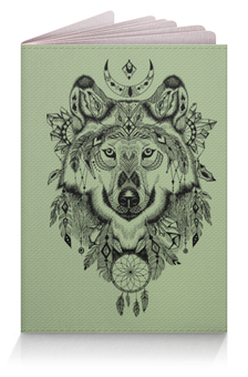"""Обложка для паспорта """"Тотем. Волк"""" - графика, волк, тотем"""