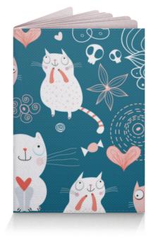 """Обложка для паспорта """"Прикольные Коты"""" - кот, кошка, котенок, cat"""