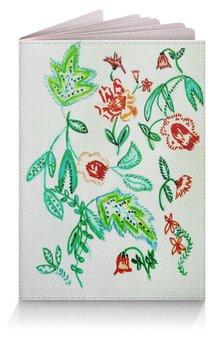 """Обложка для паспорта """"Дикие цветы"""" - лето, листья, красные цветы, цветы"""