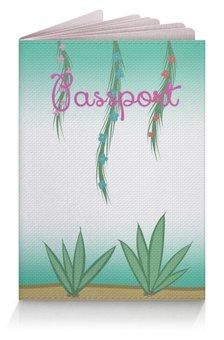 """Обложка для паспорта """"Тропический рай"""" - арт, лето, цветы, рай, тропики"""