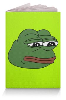 """Обложка для паспорта """"Грустная лягушка"""" - мем, meme, грустная лягушка, sad frog, pepe frog"""