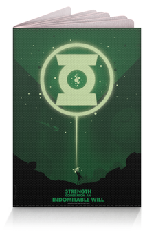 """Обложка для паспорта """"Green Lantern/Зеленый Фонарь """" - арт, green, lantern, green lantern, dc comics"""