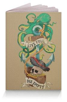 """Обложка для паспорта """"Осьминог"""" - old school, пират, якорь, татуировка, череп"""