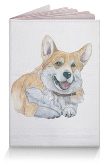 """Обложка для паспорта """"Моя любимая собака"""" - зима, рыжий, новыйгод, корги, вельшкорги"""