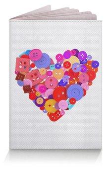 """Обложка для паспорта """"День всех влюбленных"""" - любовь, день святого валентина, валентинка, i love you, день влюбленных"""